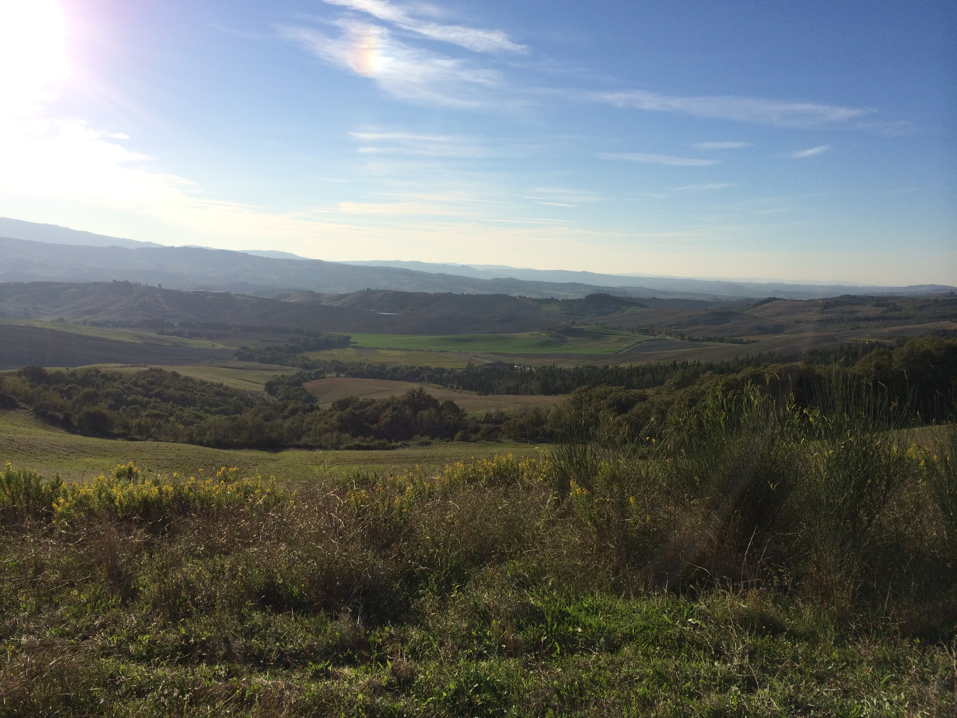walking through the val d'orcia