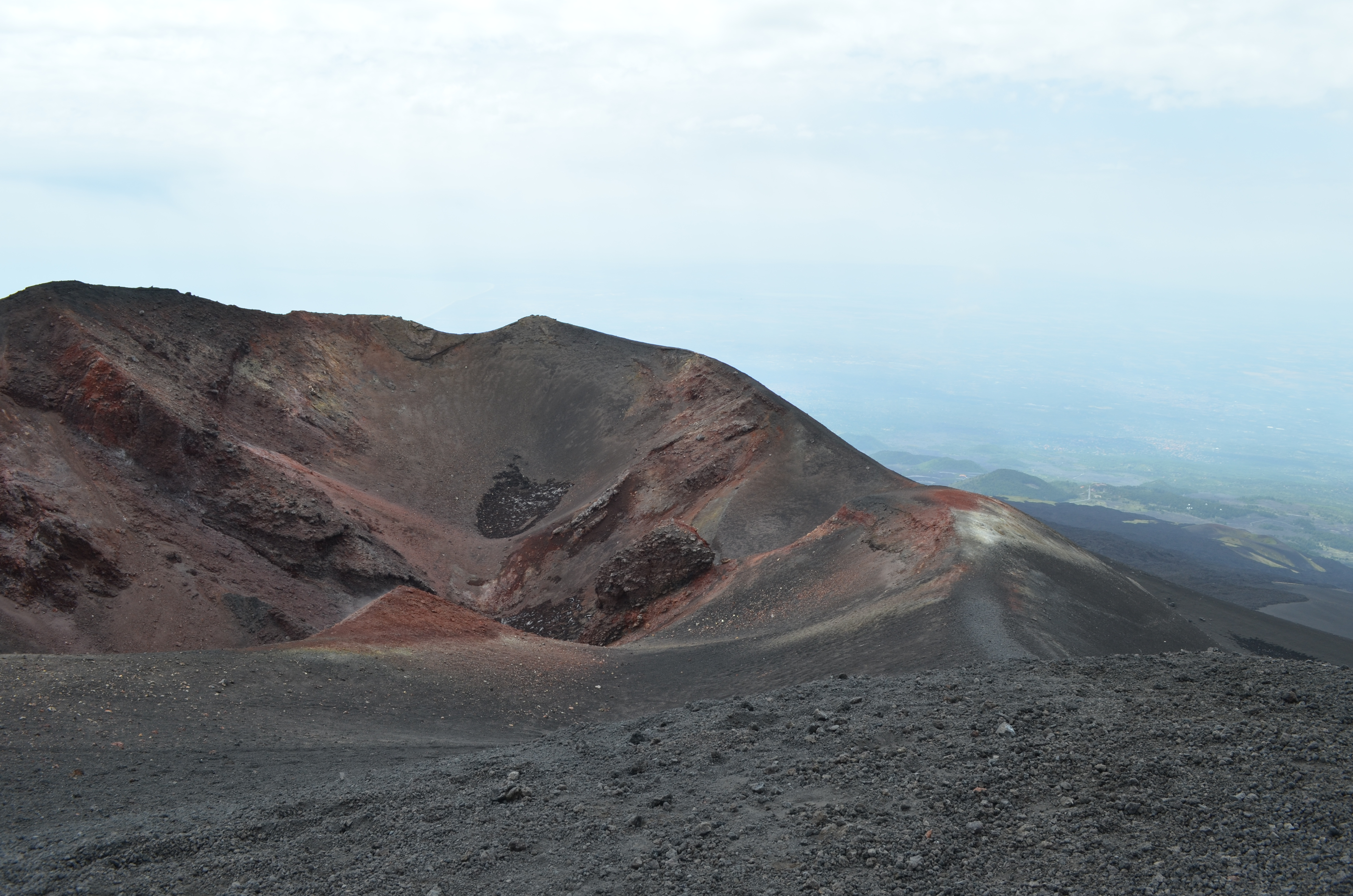 At the top of Mt. Etna