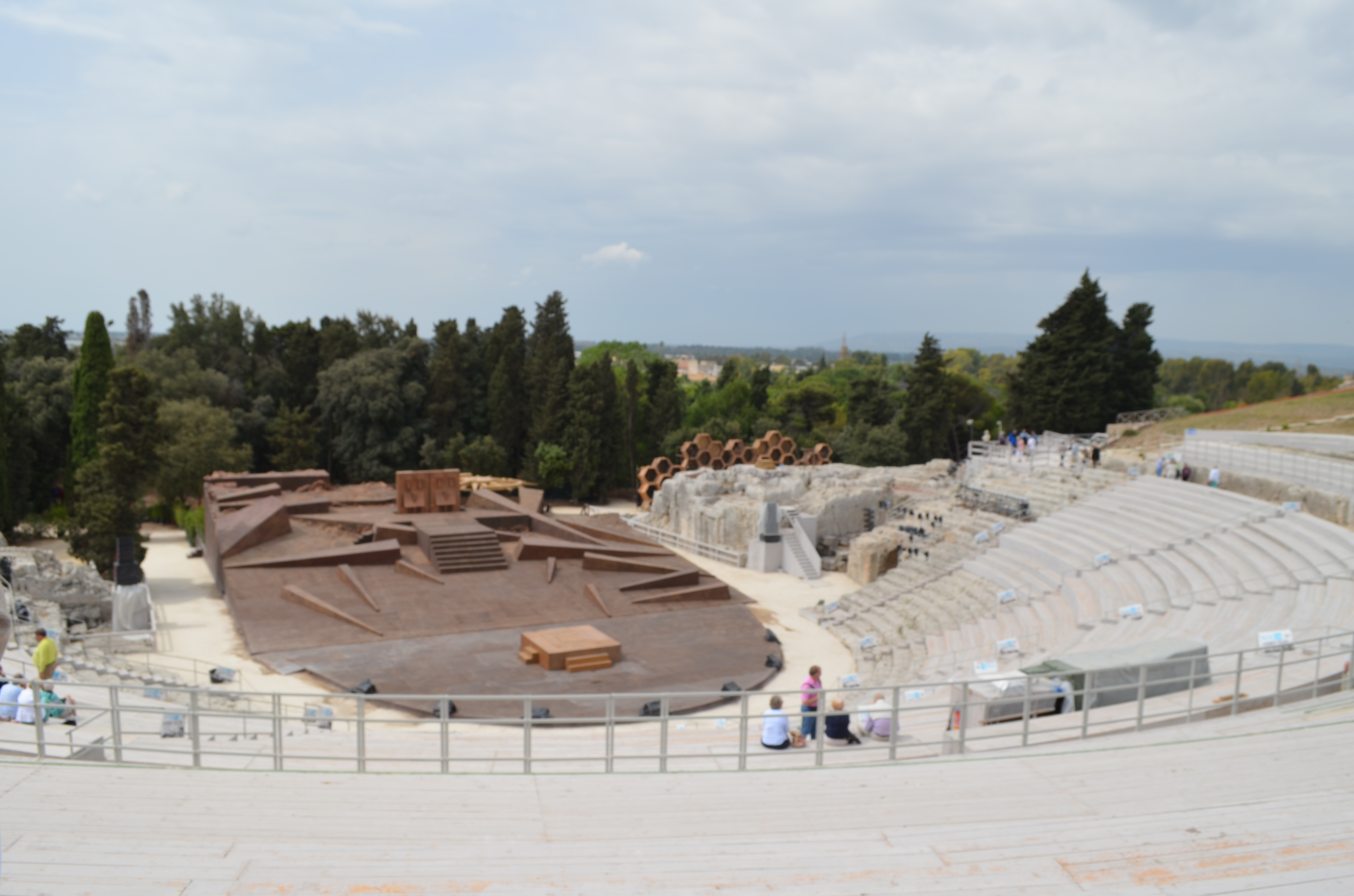 Stage in the ancient theater